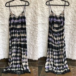 Planet Blue Life Tie Dye Maxi Dress Low Open Back